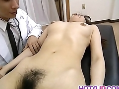 Saki Shiina has queasy cunt prearranged and sucks debase phallus