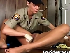 Arrested Babe Gets Inspected