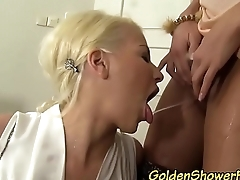 Sexy lesbians pissing