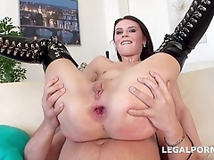 Used &amp_ Abused. Timea Bela manhandled by 4 boys with TAP. ATM/DAP/ANAL/SUBMISSION/SQUIRTING - NO