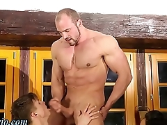 Bisex twink gets facial