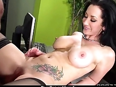 Office attachment shows her boss her flexibility 9