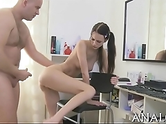 Naked anal-copulation