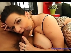 Angelina Castro Gets Mouth Abundant CUM!