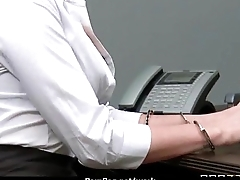 Bosomy chick is upsetting for a raise and fucks her boss and earn it 10