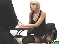 German Blonde Fucks Job Interview Porn
