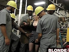 Horny Big Tit Boss Christie Stevens Sucks Many Big Black Cocks