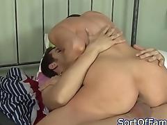 Busty mother in law riding load of shit after blowjob