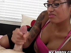 Shoot your cum all over my yo-yo glasses JOI