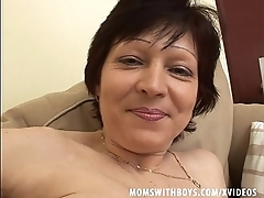 Granny Back Stockings Couch Sex