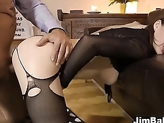 Ho in stockings pounded