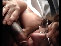54 year old granny sucking BBC