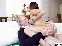 Old professor plows young cunny of Latina pupil