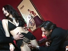 Skillful pornstar is accessible to take several cocks
