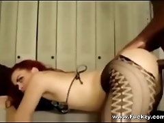 Slutty Redhead Blacked In Her Ass