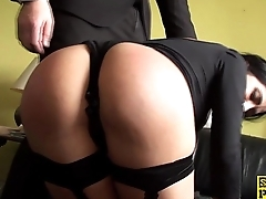 Squirting brit dutiful is cumswallowing