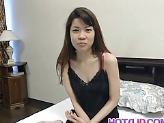 Sakura Kitazawa licks dong and is pumped off out of one's mind it and with sex toy