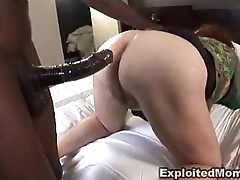 Chubby mature bbw gets botheration fucked in Interracial anal Video